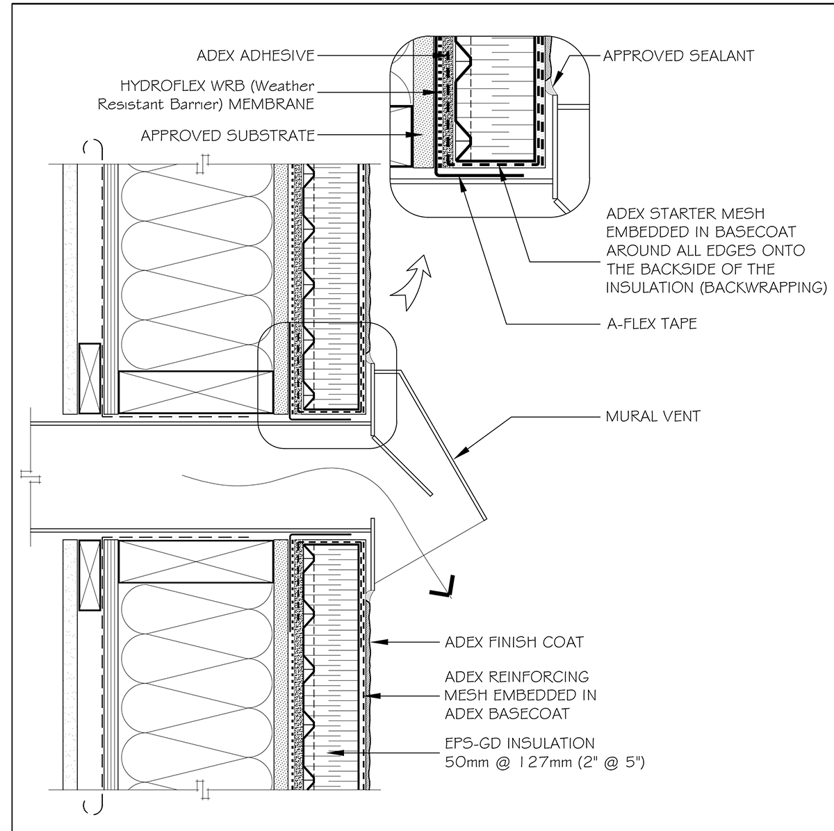 Adex Rs T30 Wall Penetrations Schematic